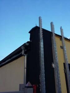 Budynek w Głogowie - fasada z paneli stalowych OMEGA