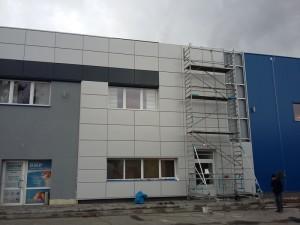 Fasada z kasetonów stalowych Pruszyński