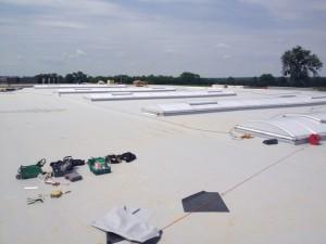 Krycie membraną PVC dachu